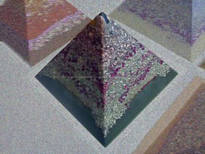 Pyramid orgonite long knife 01