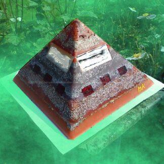 Pyramid Orgonite Dutch Shine, bijenwas, mineralen, metalen, kristallen