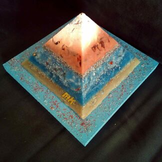 Pyramid Orgonite 17 Cinnamon Moon