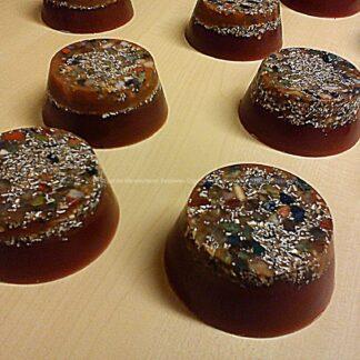 Orgonite Hand Granade Brasil Mix, bijenwas, kristallen, mineralen, metalen.