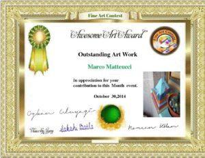Orgonite pyramid Art award, working beeswax for orgonite by Marco Matteucci aka Marek Sheran