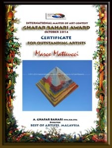 Orgonite pyramid Art award, working beeswax for orgonite by Marco Matteucci aka Marek Sheran