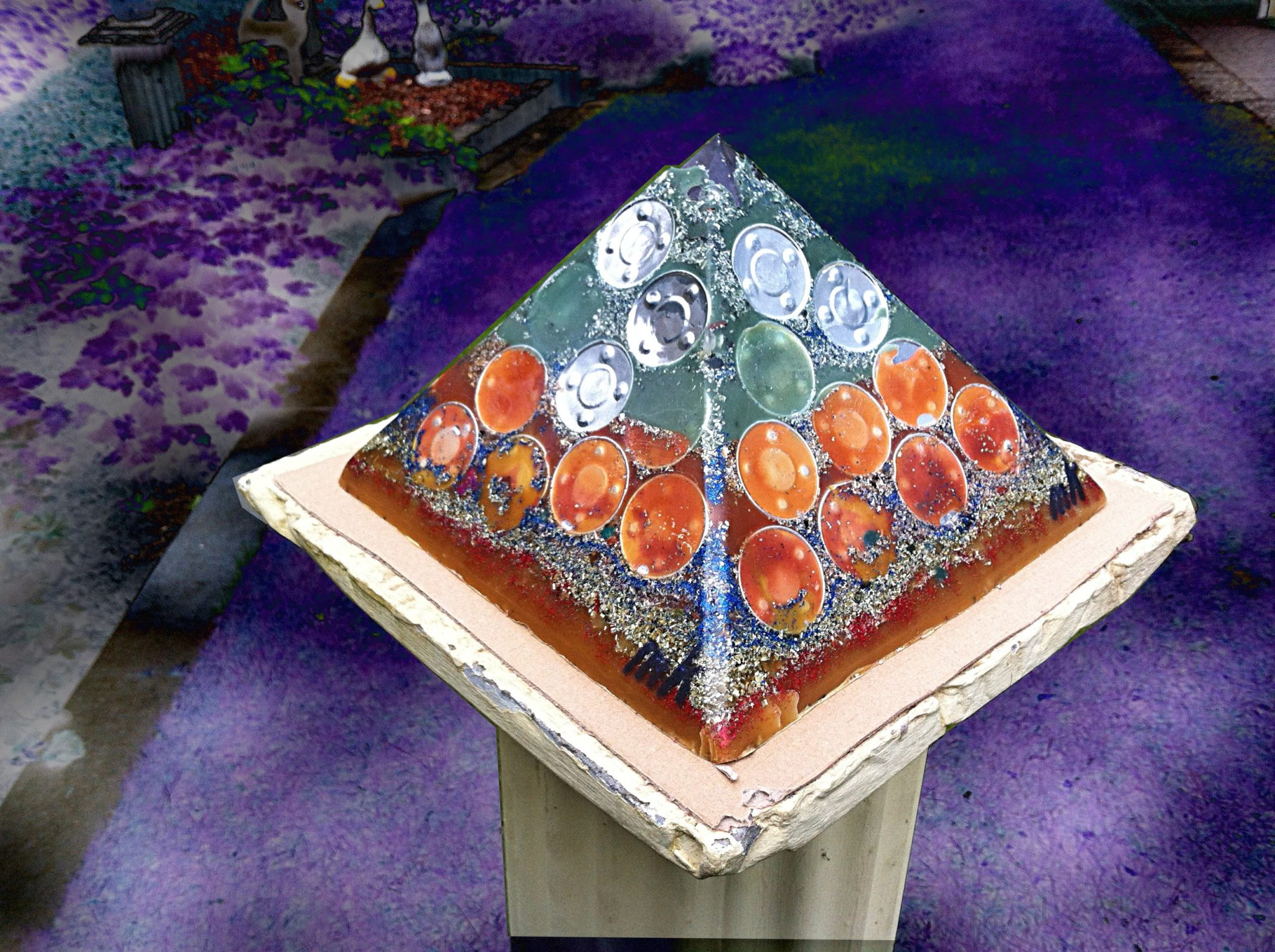 Orgonite pyramid 24 Full Metal Jacket