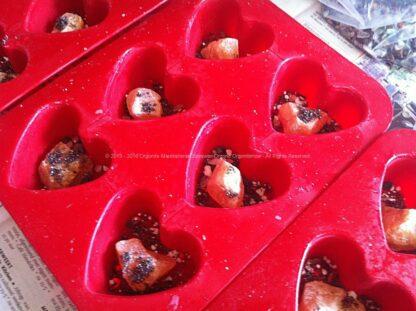 Orgonite Vegan Heart 01, ecosojawas, kristallen, mineralen, metalen.