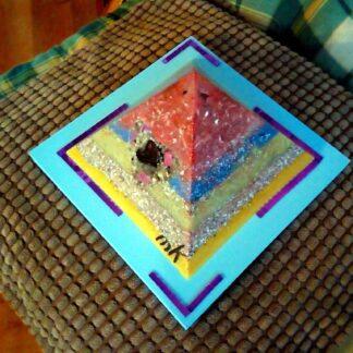 Piramide Orgone Tourmalijn Hart 17 cm
