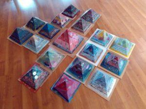 Orgonite pyramids 24 cm Kheops
