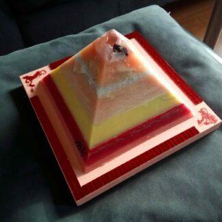Lemuria dream 17 cm pyramid orgonite 001