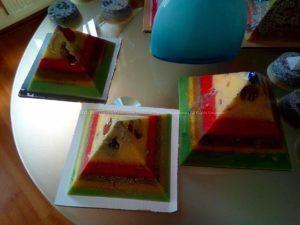 Piramiden orgonite bijenwas set 01