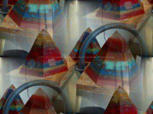 Golden Pyramids Orgonite.