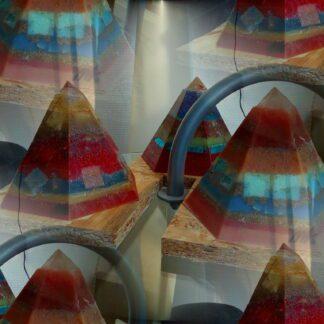 Golden Pyramids Orgonite