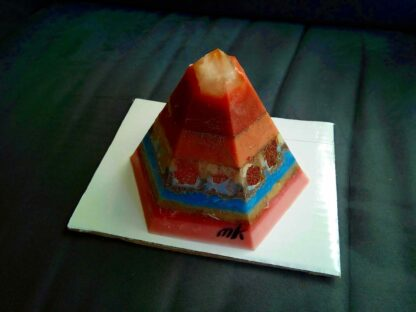 Merlino Golden Pyramid beeswax orgonite