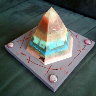 Merlino Golden pyramid beeswax orgonite
