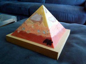 Tea ( Yellow Rose ) 13 cm pyramid Orgonite